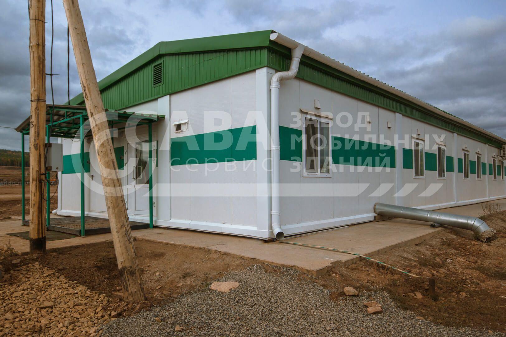 Модульное здание штаб строительства из 12 БК