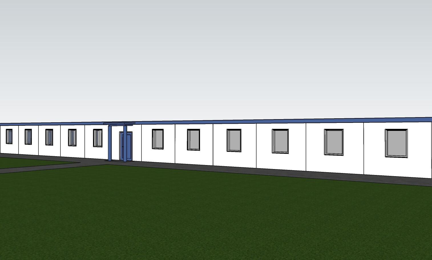 Модульное общежитие на 80 человек