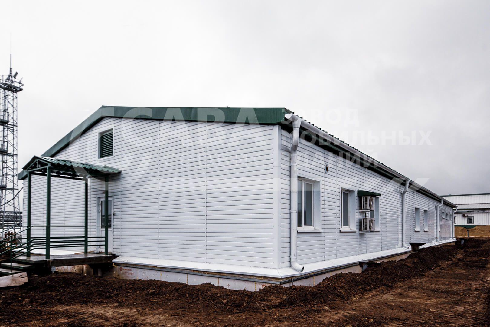 Модульное здание АБК на раме. Общежитие на 24 человека