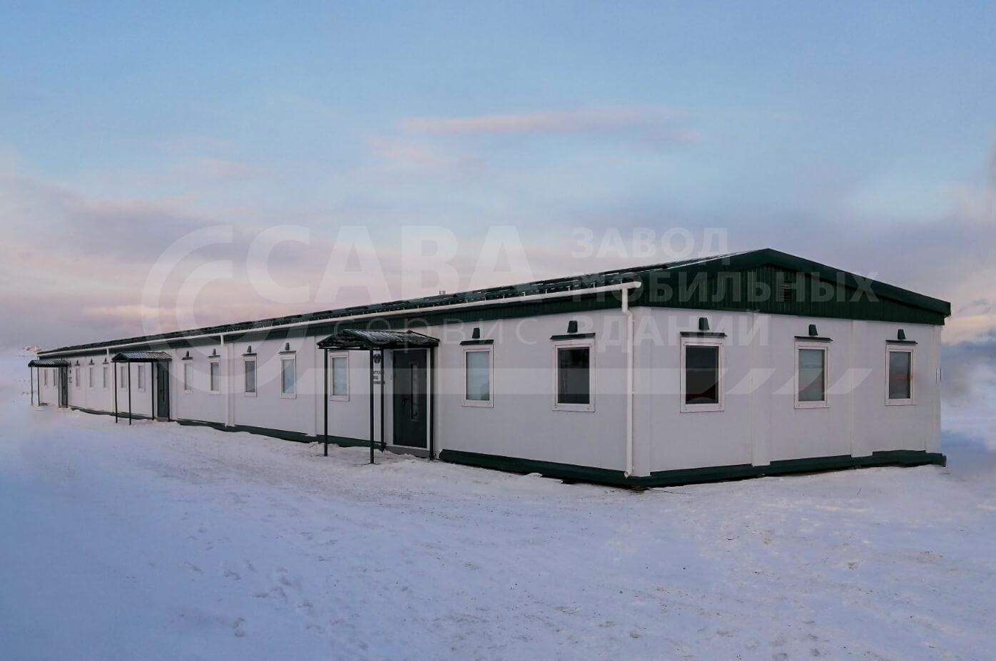 Модульное здание штаб строительства из 26 БК